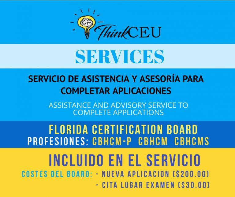 fcb advisory assistance certification applications florida board
