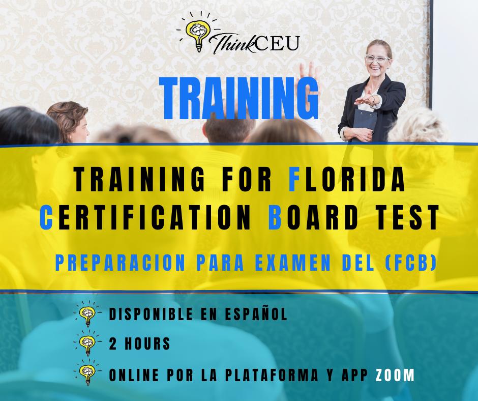 certification florida board training test fcb